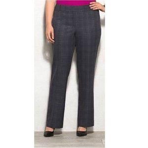 Roz & Ali Black Plaid Classic Fit 5 Pocket Pants